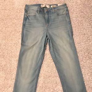 Hollister Light Wash High Rise Super Skinny Jeans
